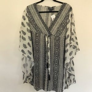 Angie paisley print butterfly tunic